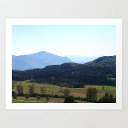 Mountains Art Print