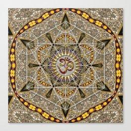 Bohemian Yoga Om Geometry Canvas Print