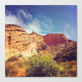 Golden Cliffs Canvas Print