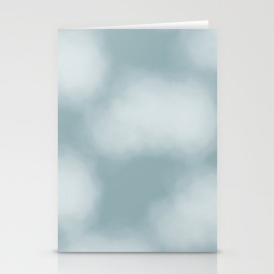 Dreamy Blue Clouds Stationery Cards