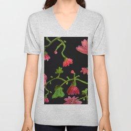 Fronda en rosas Unisex V-Neck