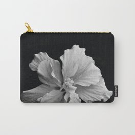 Hibiscus Drama Study - Black & White High Impact Photography Carry-All Pouch