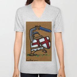Templar Ape with Sword Unisex V-Neck