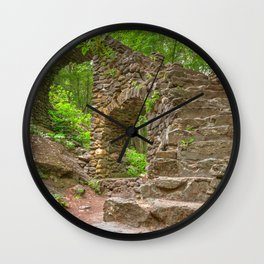 Forest Castle Ruins Wall Clock