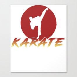 Karate Fighting Present Gift Self Defense Canvas Print