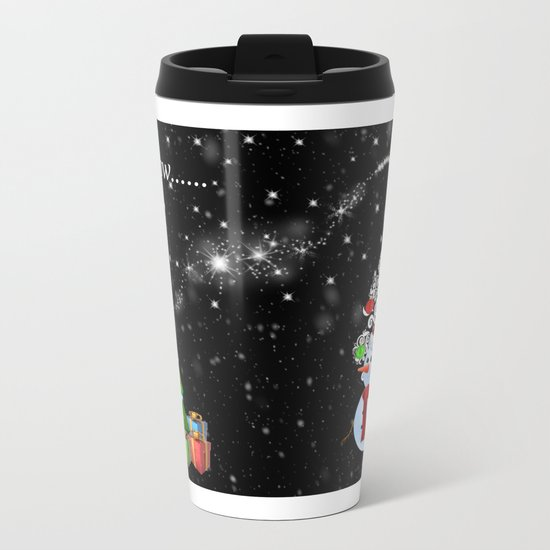 Let it Snow..... Metal Travel Mug