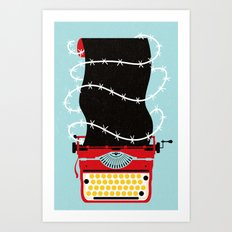 Typer Write Art Print