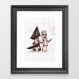 Silent Plushie Hill Framed Art Print