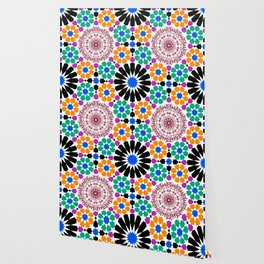 full color mandala Wallpaper