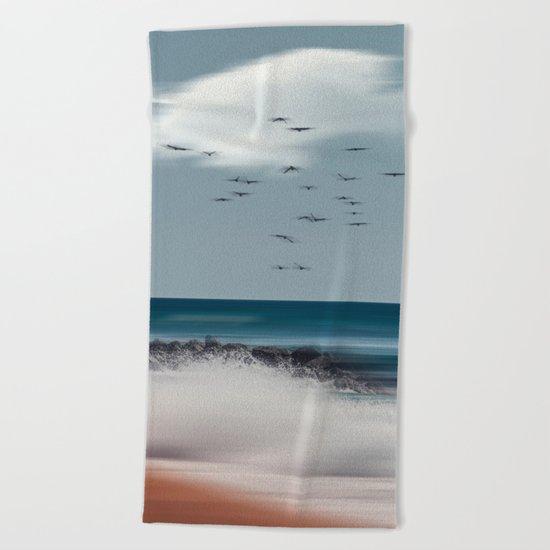 Atlantic Water Beach Towel