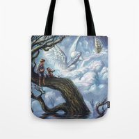 once upon a  time Tote Bags featuring Once Upon A Time by muratturan