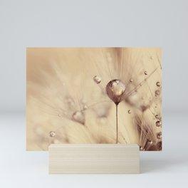 dandelion gold drop Mini Art Print