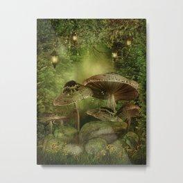 Enchanted Mushrooms Metal Print