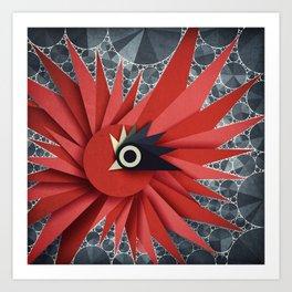 Origami Chick Art Print