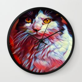 The TUXEDOfrom our FUNK YOUR FELINE line Wall Clock