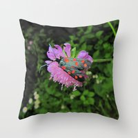 moth Throw Pillows featuring moth by giol's