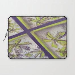 Purple green spray paint Laptop Sleeve