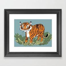 Tiger tiger burning bright Framed Art Print