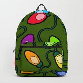 Christmas Tree Lights Pattern Backpack