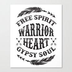 Warrior Heart Canvas Print