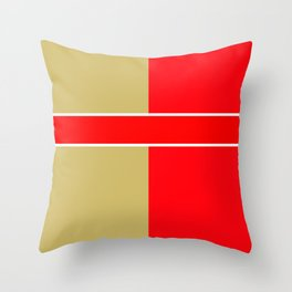 Team Colors 6...red,gold Throw Pillow