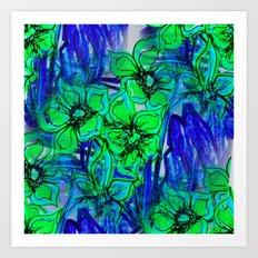 Oceans of Flowers Art Print