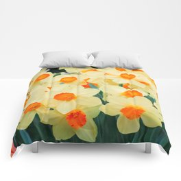 Yellow Narcisscus 4 Comforters