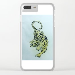 Kwaade tyger Clear iPhone Case