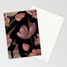 Beautiful spring flowers tulips and muscari Stationery Cards