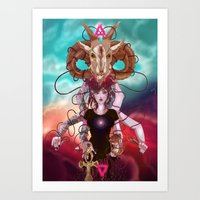 occult Art Prints featuring Occult allegory by Kami-katamari