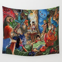 One piece of sleep with friends Wall Tapestry