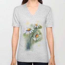 daisies Unisex V-Neck