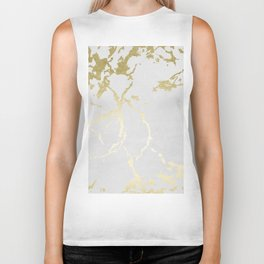Kintsugi Ceramic Gold on Lunar Gray Biker Tank