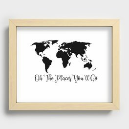 Oh The Places You'll Go Recessed Framed Print