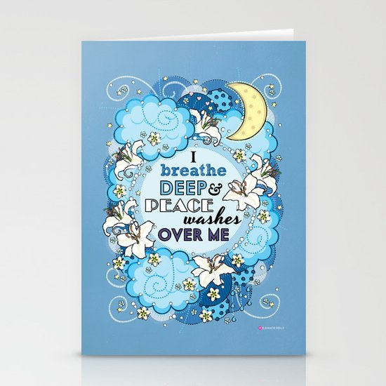I Breathe Deep and Peace Washes over me - Affirmation Stationery Cards