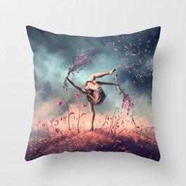 VIRGO from the Dancing Zodiac Throw Pillow