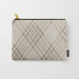 Rich Beige Carry-All Pouch