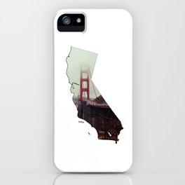 San Francisco and California Illustration iPhone Case