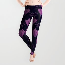 Batshit Crazy Wacky Cartoon Bat Leggings