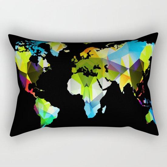 Colorful world map Rectangular Pillow