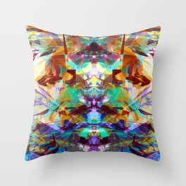 Chemical Symmetry Abstract Print Throw Pillow