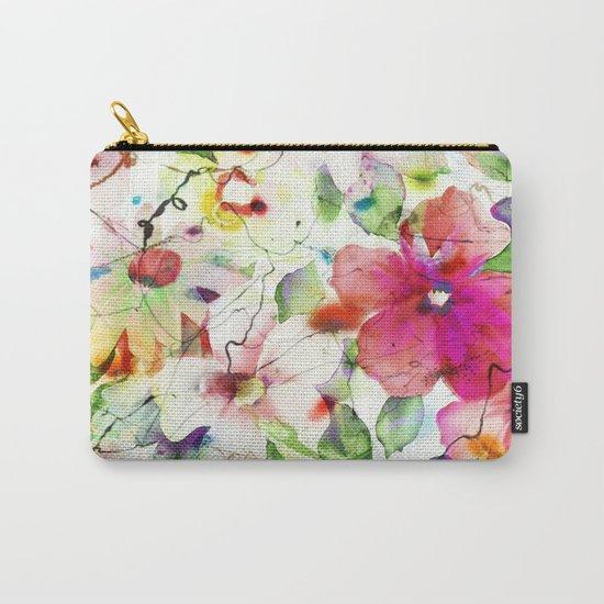 joyful flowers Carry-All Pouch