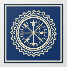 Viking Vegvisir Compass Canvas Print