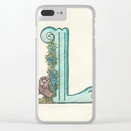 L Clear iPhone Case