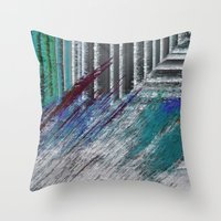 data Throw Pillows featuring Data by MonsterBrown