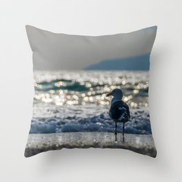 Afternoon Seagull Throw Pillow
