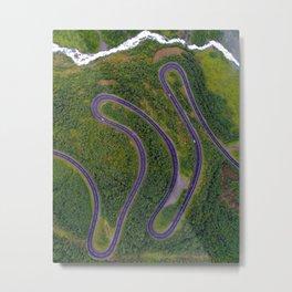 Sinuous road Metal Print