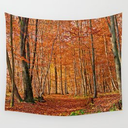 Autumn in the forest Wall Tapestry