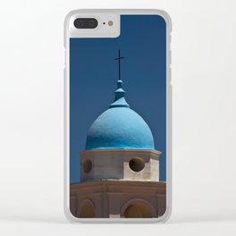 Blue dome, blue skies Clear iPhone Case