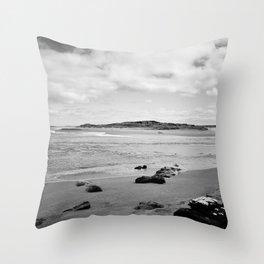 Beach - New Zealand South Coast Throw Pillow